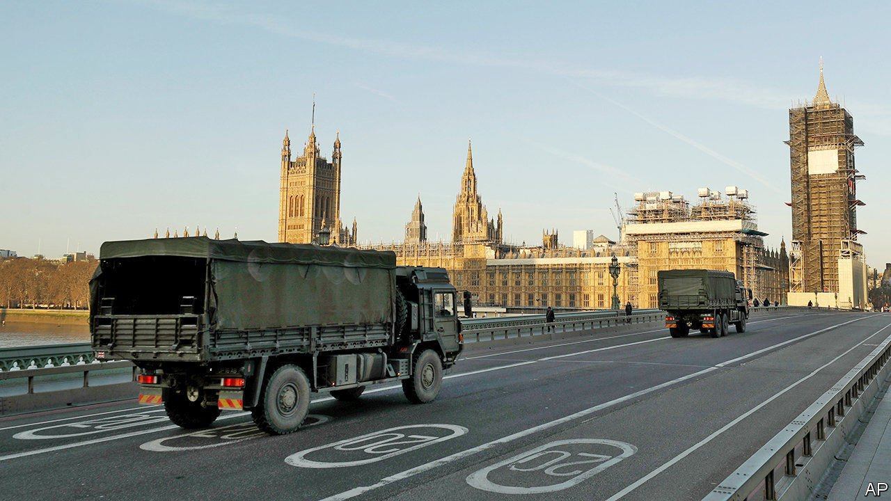 Army support London Coronavirus